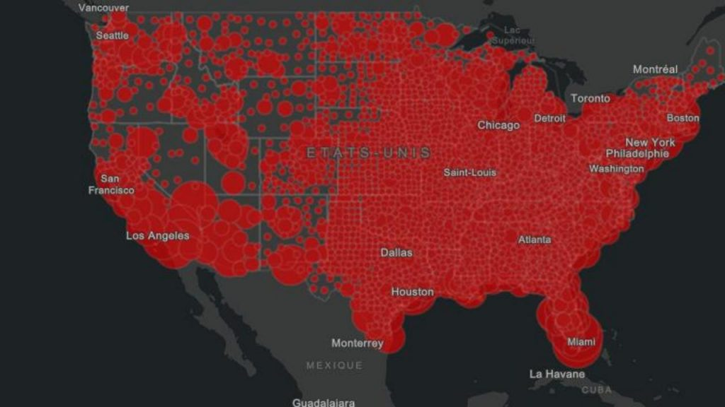 MAP - Kovid-19: More than 325,000 people die in the United States