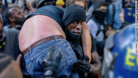 The rescue of Black Lives Matter performer is the most exciting moment of the year