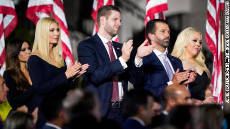 Plotting the future: Trump children will also look to profit from the legacy their father fell into