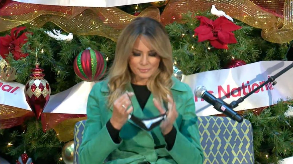 Melania Trump violated the rules of the children's hospital by removing her mask to read to patients