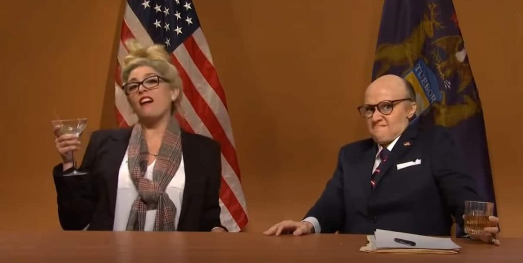 SNL skaters Rudy Giuliani and Trump on ballots;  Morgan gives Valen a second chance