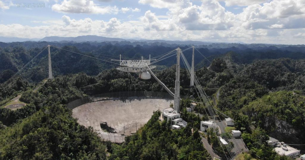 See the unreal drone footage of the catastrophic fall of the Arecibo Observatory