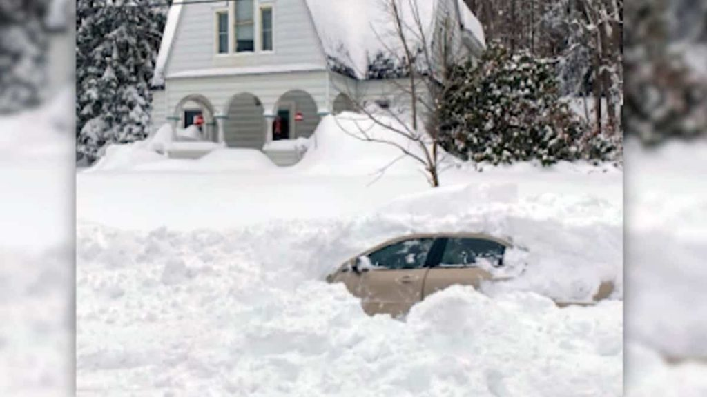 She remained in her car buried in the snow for more than 10 hours
