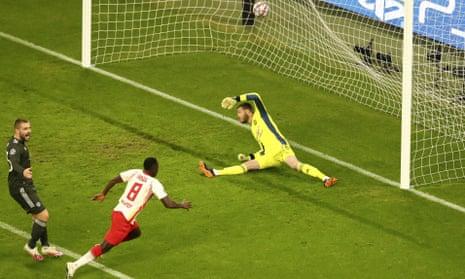 Amadou Haidara of RB Leipzig scored his second goal.