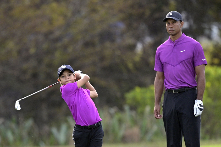 The son of Tiger Woods impressed at the PNC Championship