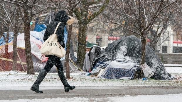 Homeless encampments