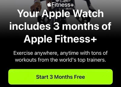 Apple Fitness Plus 3 months trial
