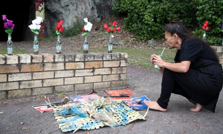A small memorial in Wakatane for the 22 people who died on 9 December 2019 in White Island.