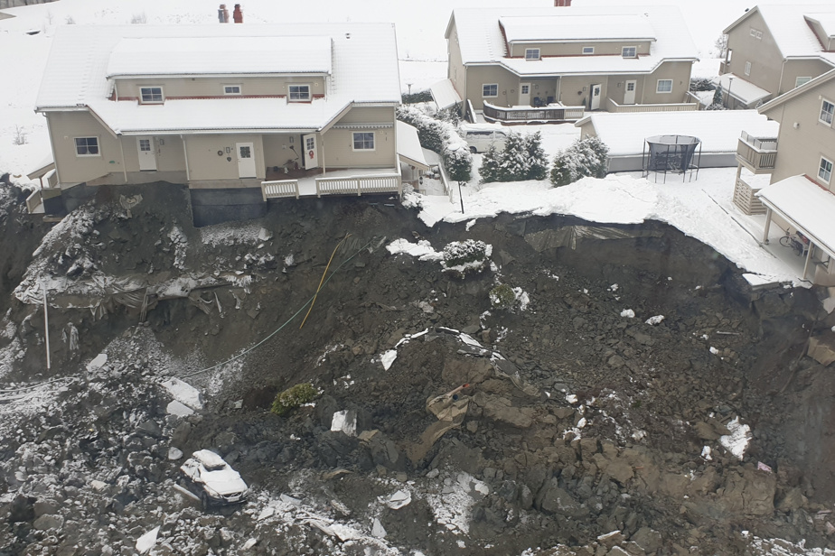 The body was found after a landslide broke in Norway