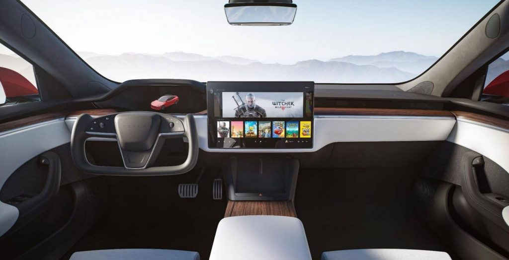 The new Tesla model will have the same powerful infotainment system as the SPS5