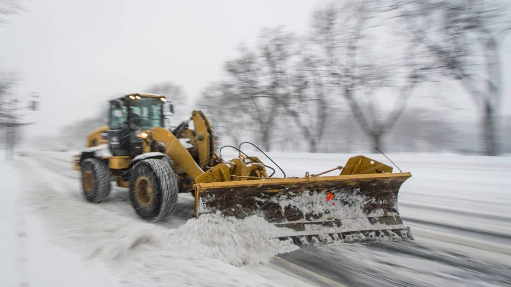 A blizzard occurred in the province on Tuesday