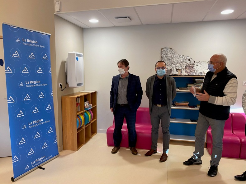 An air purifier was installed in the childhood and youth space