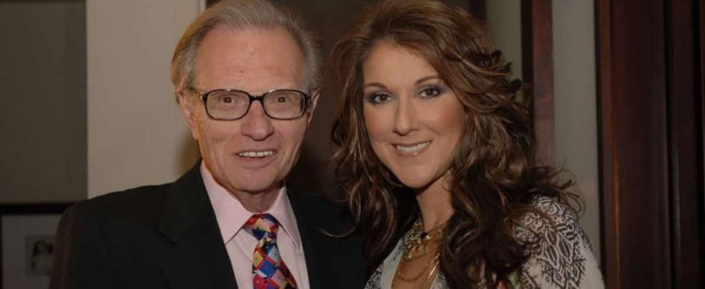 Celine Dion, sad to learn of Larry King's death