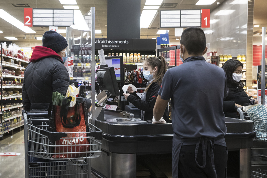 Curfew |  Grocery store workers getting ready