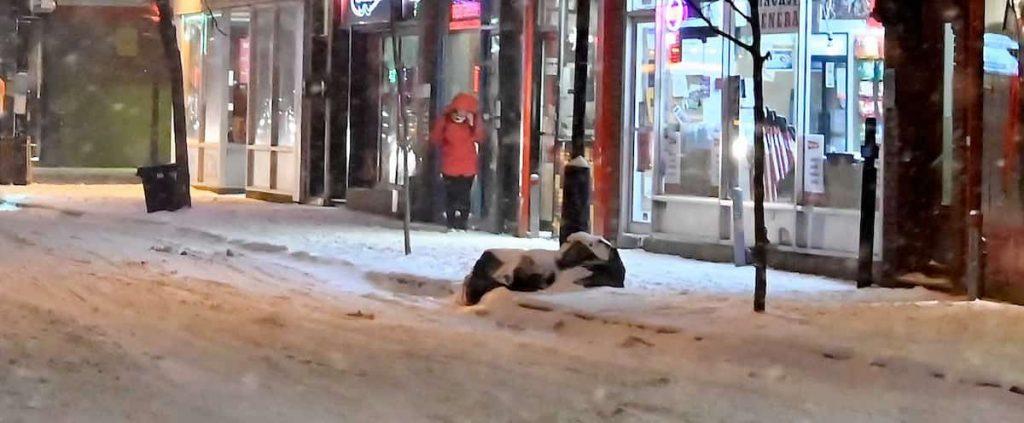 Curfew in Quebec, winter