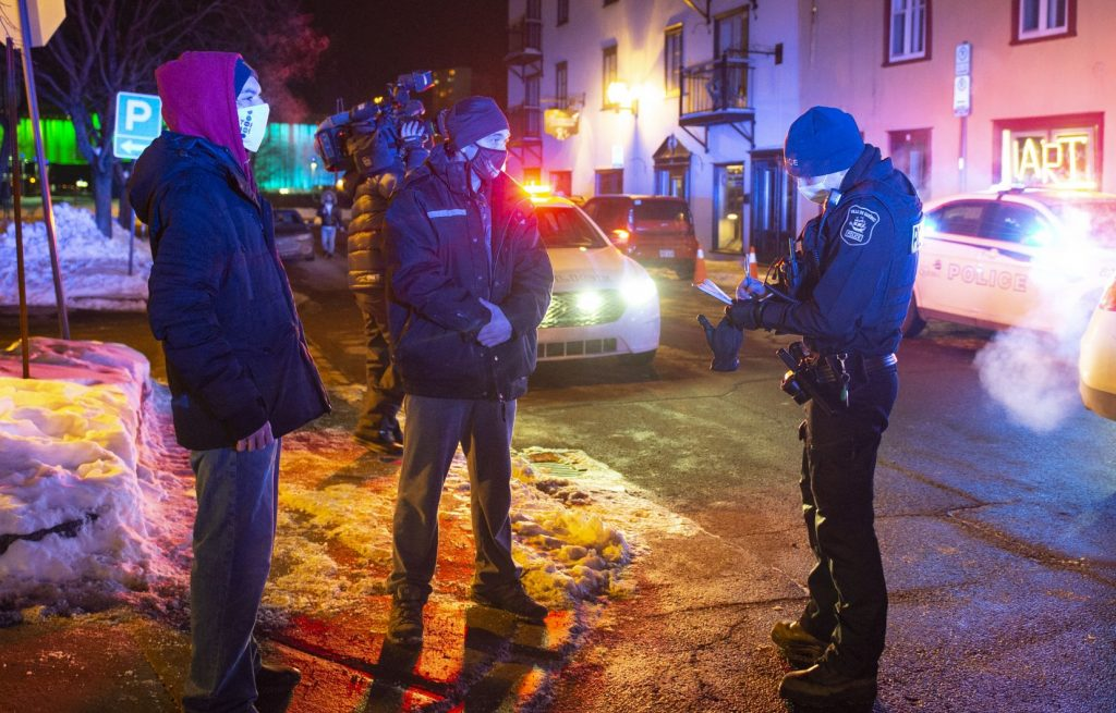 Kovid-19: More than 200 fines were distributed to those who violated the curfew in Quebec