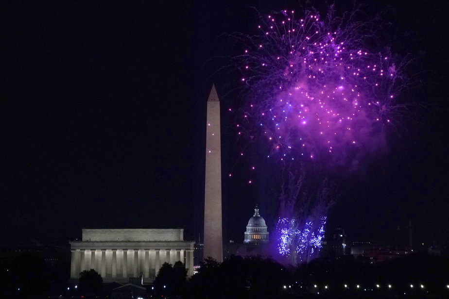 Stars and fireworks to celebrate the opening of Joe Biden