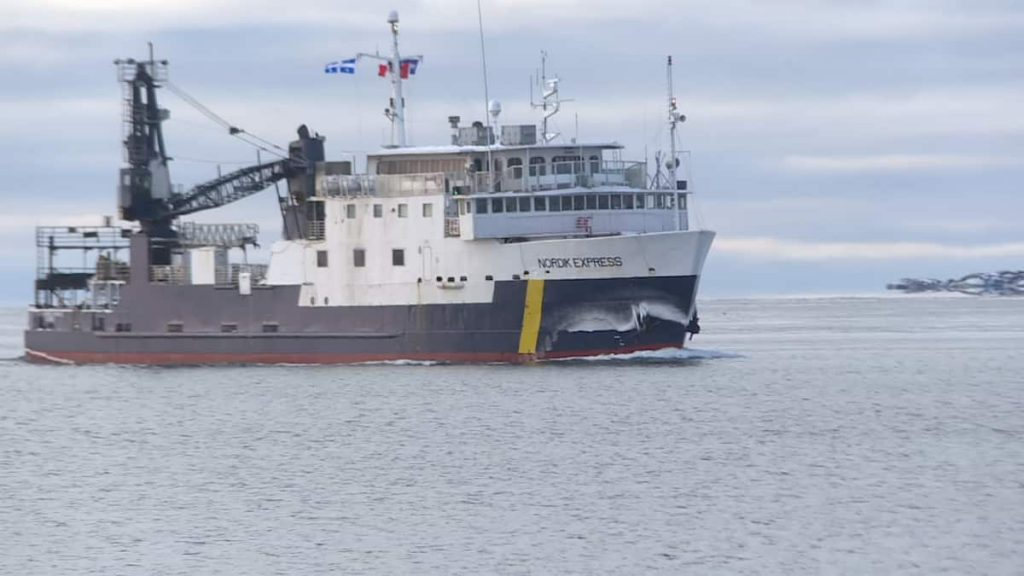 The Nordic Express arrived in September-Îles
