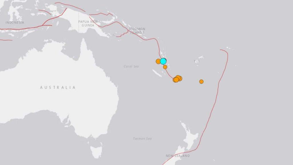 A magnitude 6.2 earthquake shakes the capital Vanuatu