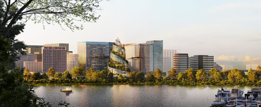 Amazon's new headquarters in Washington: Memorial spiral staircase worn in nature