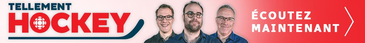 Banner announcing Radio-Canada Sports Podcast: Telement Hockey