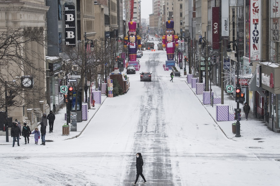 Downtown Montreal    Free parking for reopening of shops