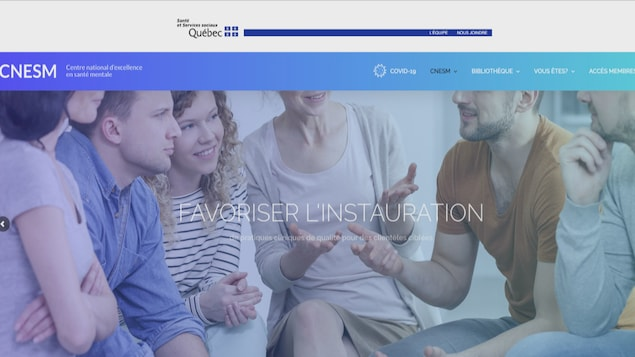 Une capture d'écran de la pagne d'accueil du site internet.