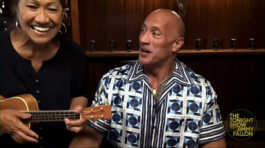 Rock's mother surprised him while chatting with Jimmy Fallon