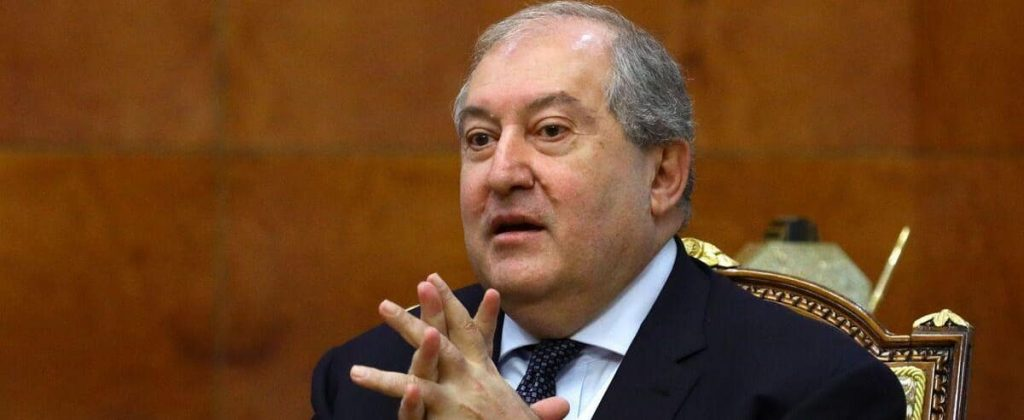 The Armenian president refused to remove the army chief