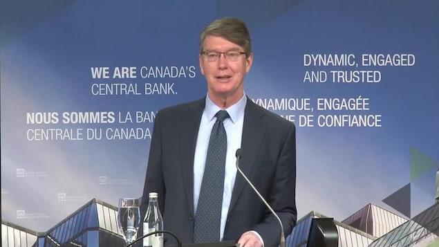 Le sous-gouverneur de la Banque du Canada, Timothy Lane, lors d'un discours sur les paiements dans l'après-pandémie.