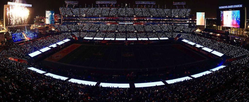 The local SME lit the Super Bowl