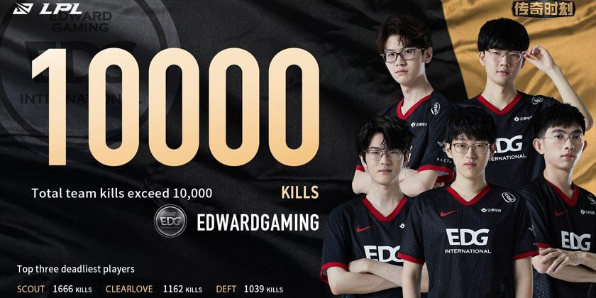 10,000 Kills Mark for EDward Gaming