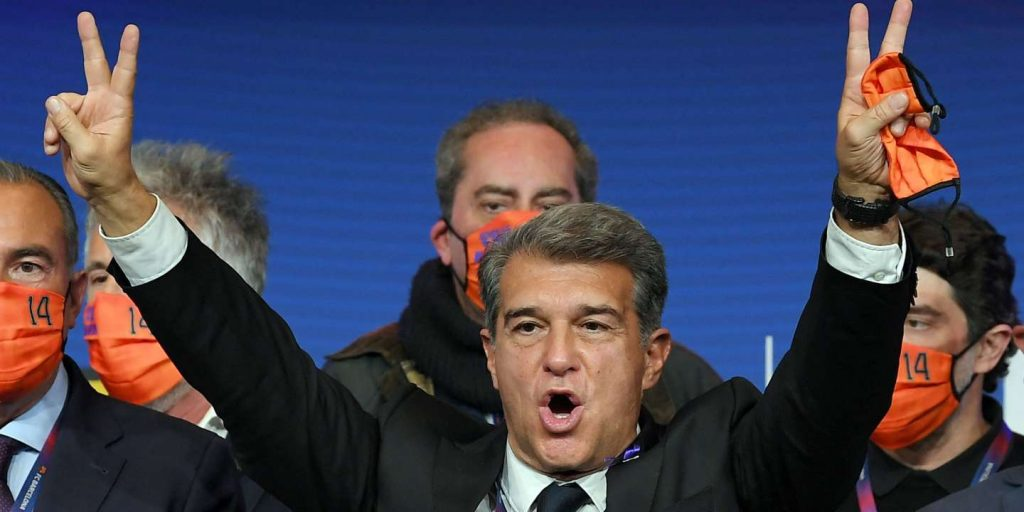 F.C., a legendary club under construction.  Joan Laporta is elected President of Barcelona