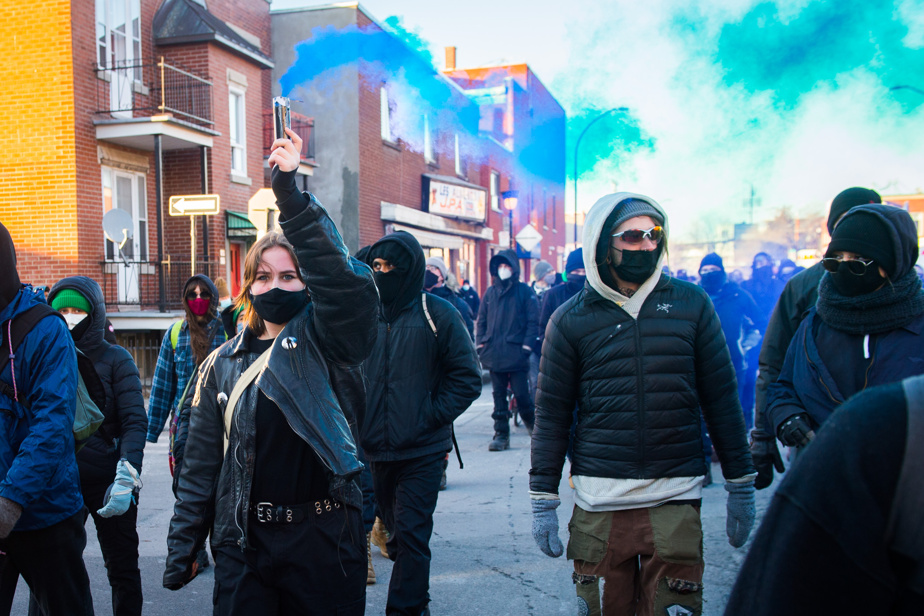Demonstration against police brutality in Montreal