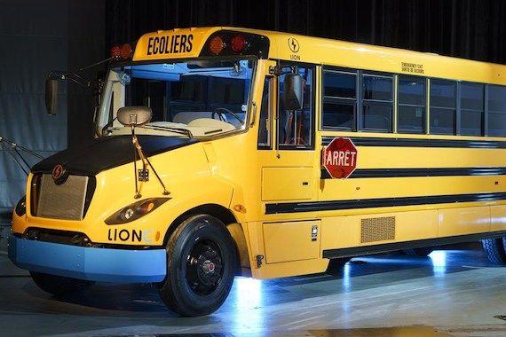 Un autobus électrique de Lion