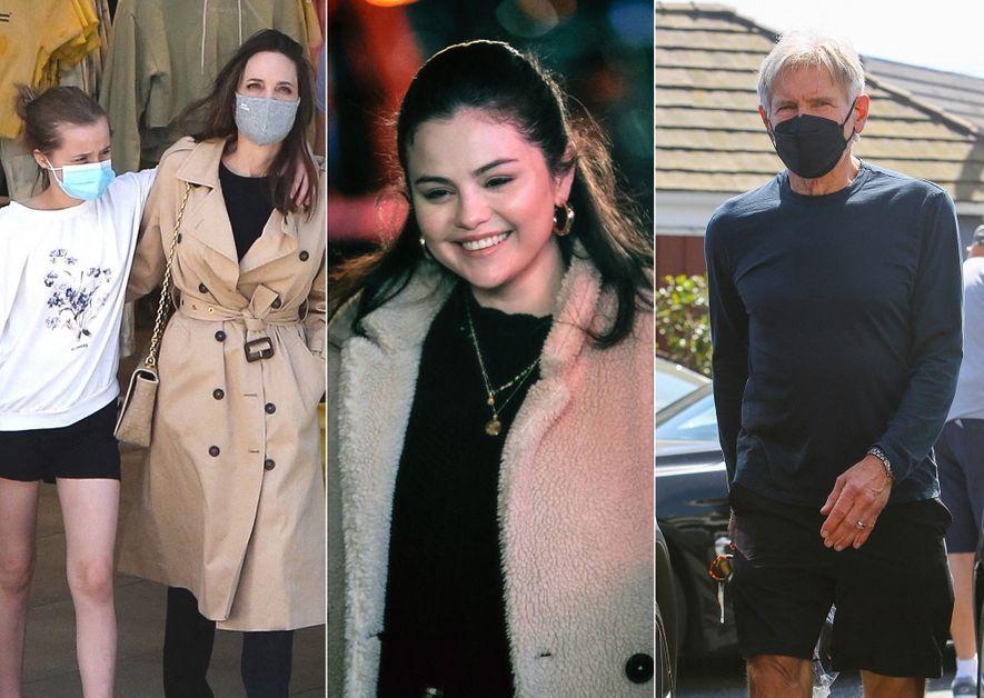 Angelina Jolie, Selena Gomez and Harrison Ford