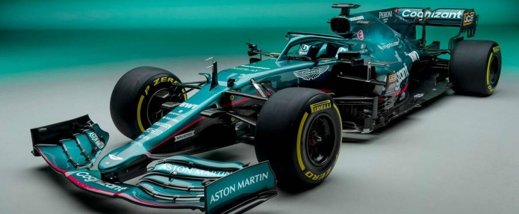 Five green cars identified as Formula 1