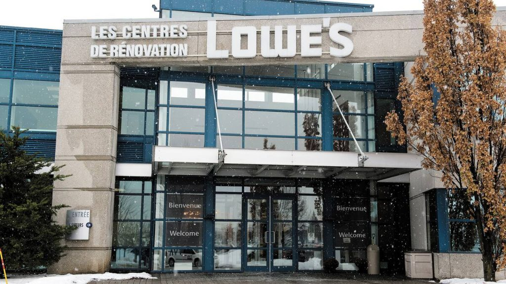 Lowes Canada has cut jobs in Boucherville