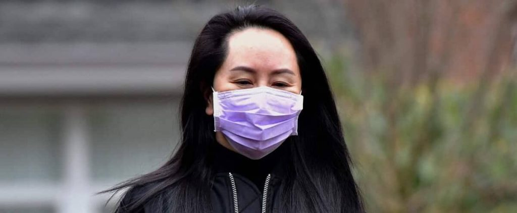 The final step in the handover process on Meng Wanzhou