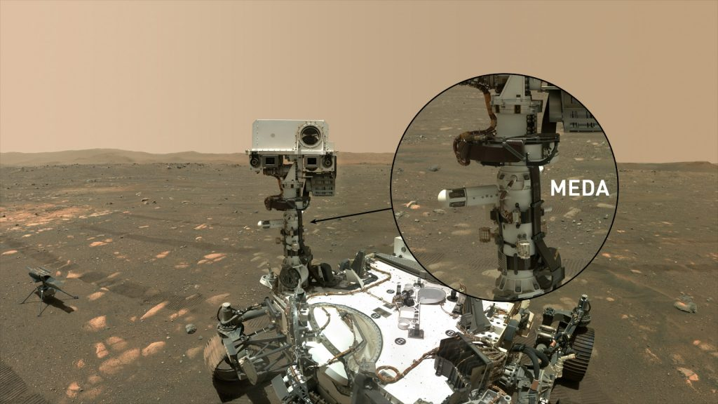 Extremely hot weather on Mars