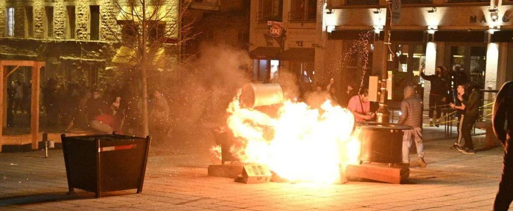 """Demonstration against curfew: """"What have we done to qualify for this?"""""""