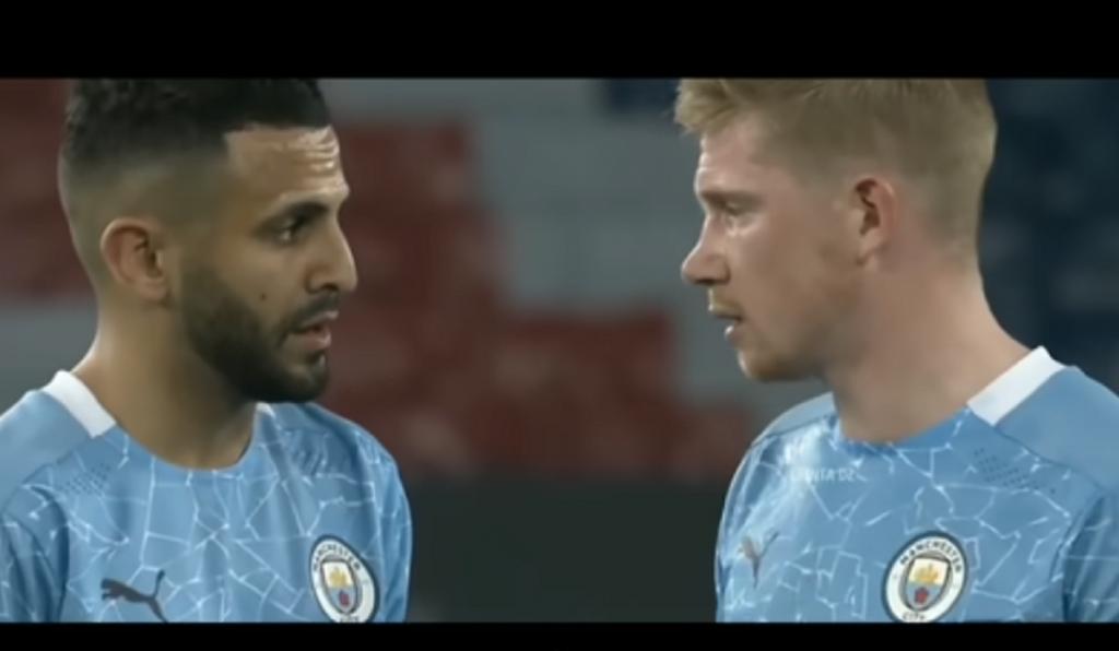 How Mahrez persuaded De Bruyne to take a free kick
