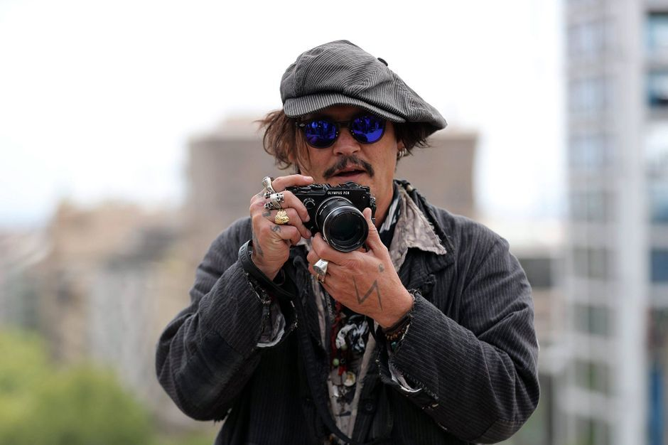 Johnny Depp in Spain for the promotion of his latest film