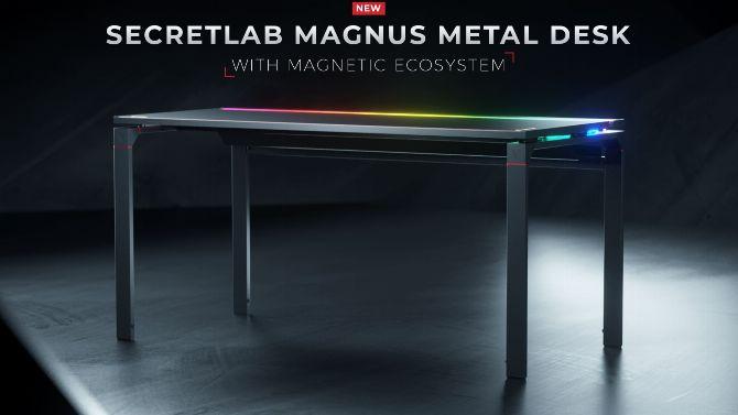 Secret బ్Lab Dvoil Magnus, with its colorful gaming desk