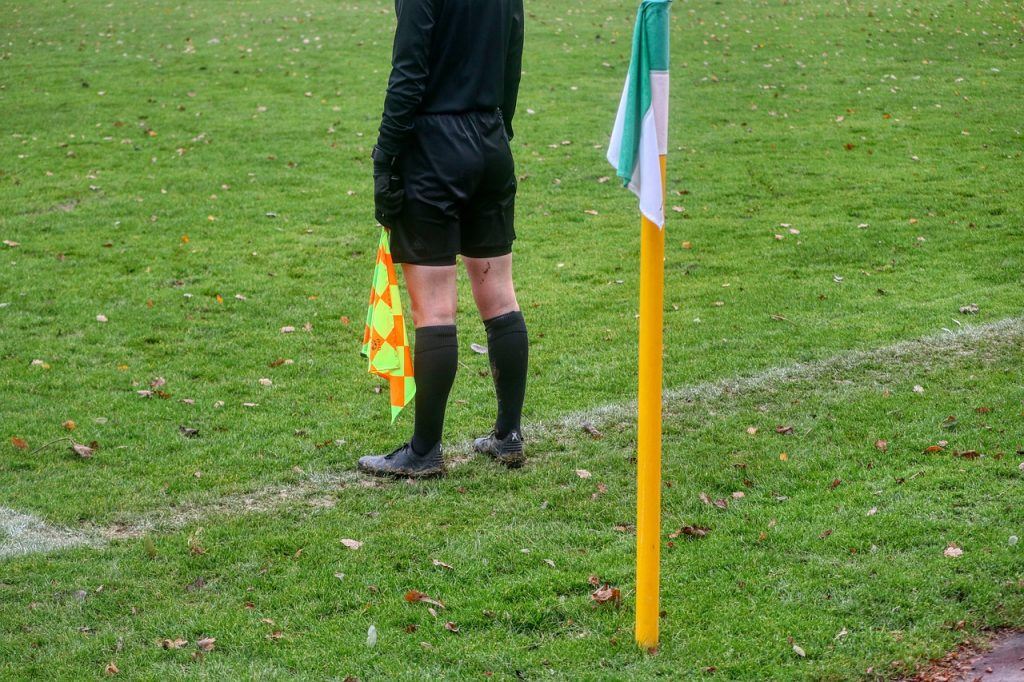 The referee interrupts a match due to Ramadan