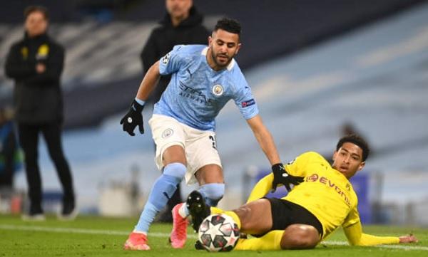 UCL: Mahrez Passer against Dortmund
