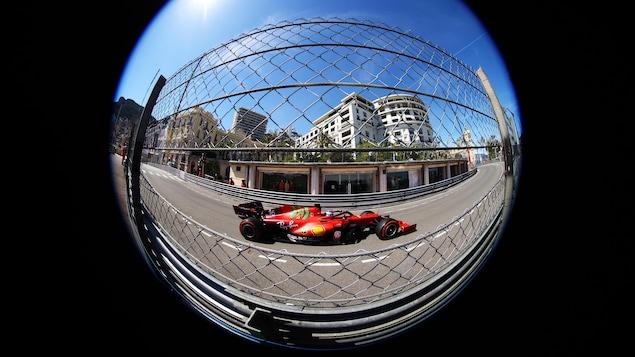 Lance Stroll Ferrari leads Monaco in 13th place