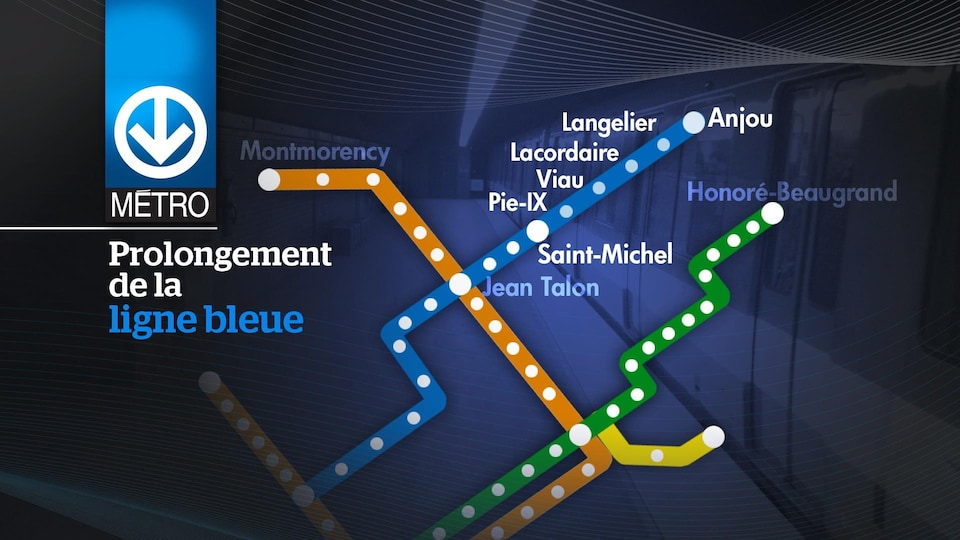 An extension of the blue line of the Montreal Metro.