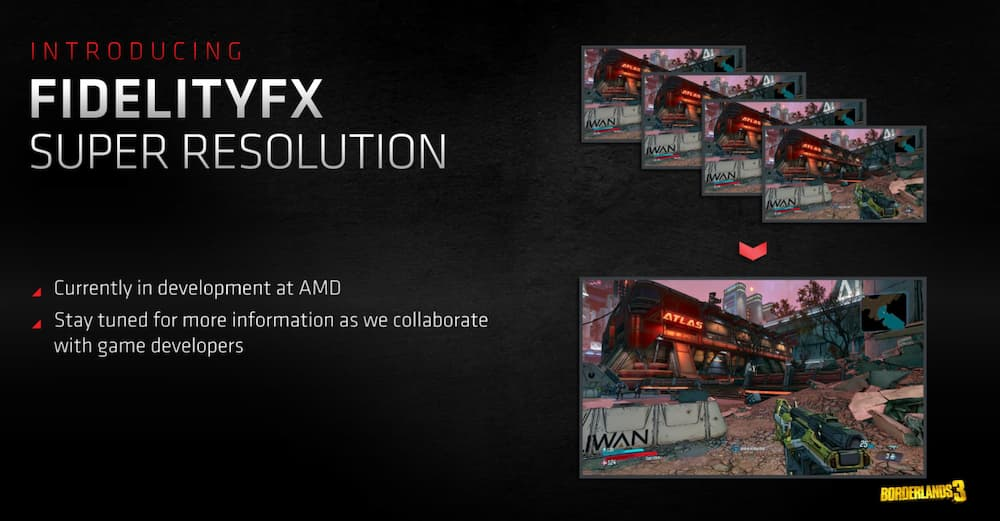 Describes the patented gaming super resolution filed by AMD