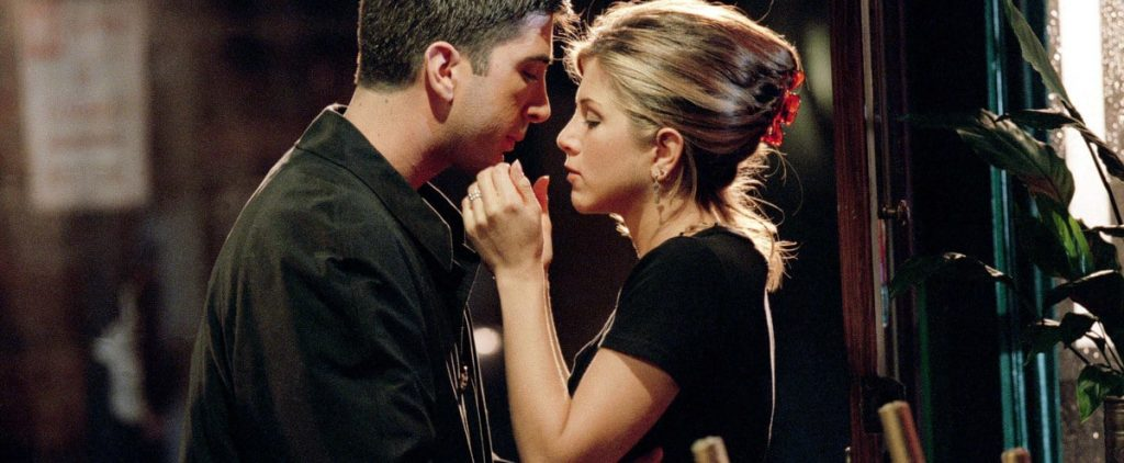 """""""Friends"""": Jennifer Aniston (Rachel) and David Schwimmer (Ross) are almost a real couple"""